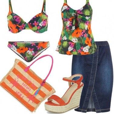 Outfit Fiori al mare