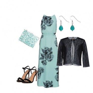 Outfit Cerimonia in verde acqua...low cost