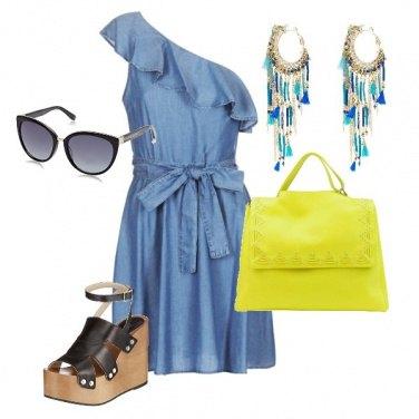 Outfit La borsa fluo