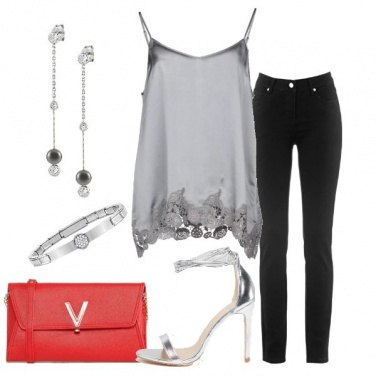 Outfit Top in raso e jeans