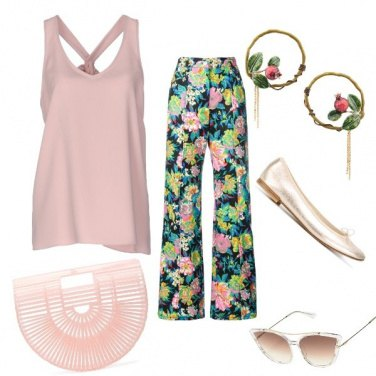 Outfit Vintage a fiori