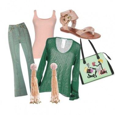 Outfit CMPS Il rosa e la menta fresca