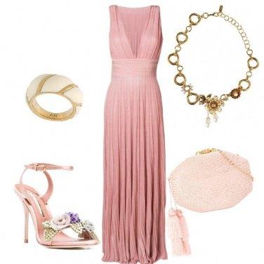 Outfit Rosa antico e Oro