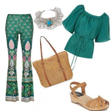 Outfit Verde etnico