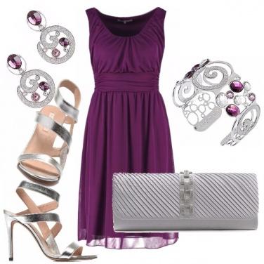 Outfit Viola e silver