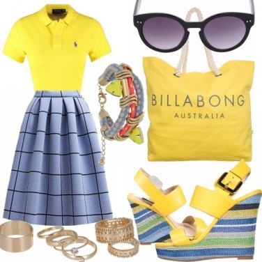 Outfit Yellow look street fashion