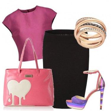 Outfit La borsa col cuore