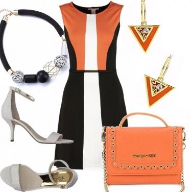 Outfit Arancio, nero e bianco !