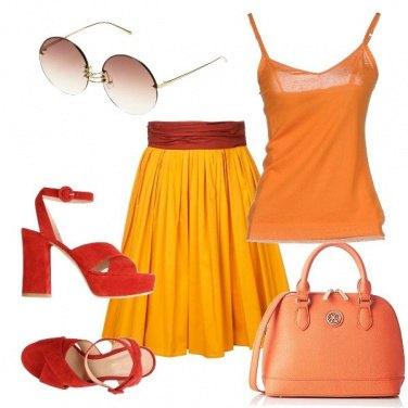 Outfit Caldo arancio