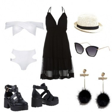 Outfit Rock beach