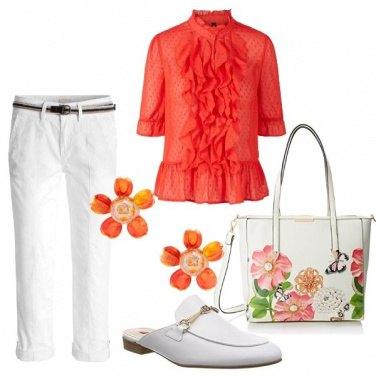 Outfit Fiori in stile bon ton
