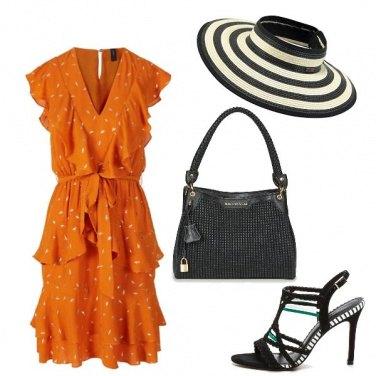 Outfit Il vestito arancio