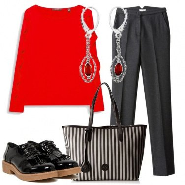 Outfit Rouge e rouches