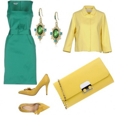 Outfit Yellow and green