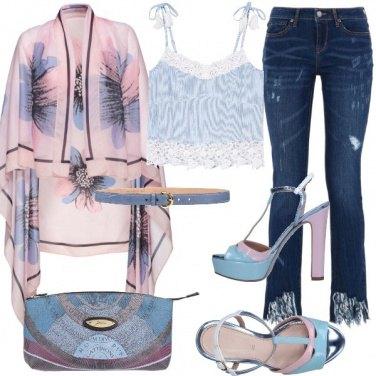 Outfit Lavanda e azzurro