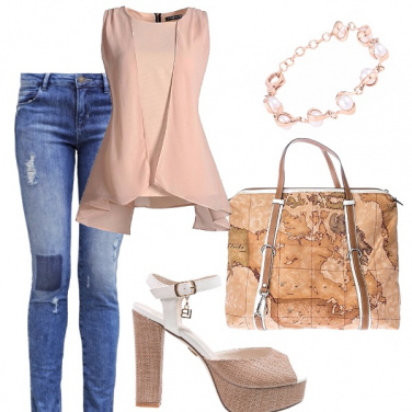 Outfit Natural beige sofisticato