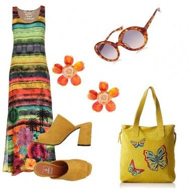 Outfit Palme e farfalle