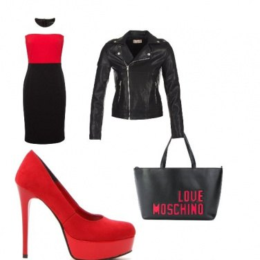 Outfit Red&black