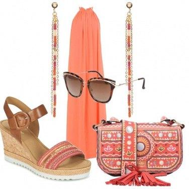 Outfit Tripudio di arancio