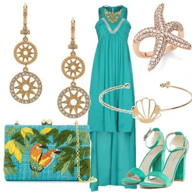 Outfit Tropical and glamour