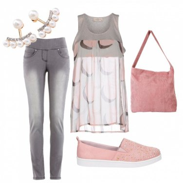 Outfit Grey rose