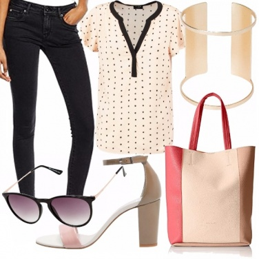 Outfit Casual a pois