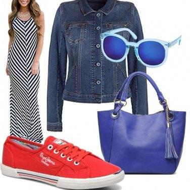 Outfit Osare con il rosso e il blu
