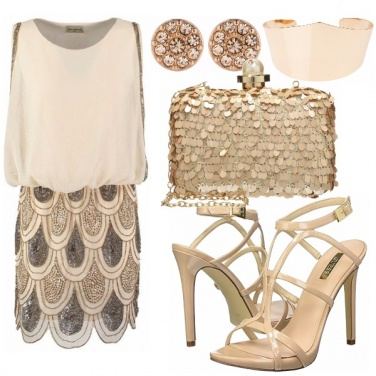 Outfit Oro paillettes