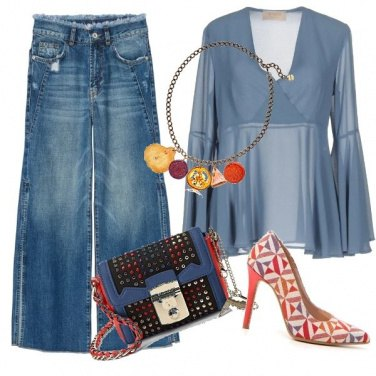 Outfit Jeans palazzo