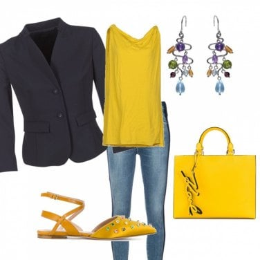 Outfit Blu&yellow