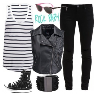 Outfit Rock and the city