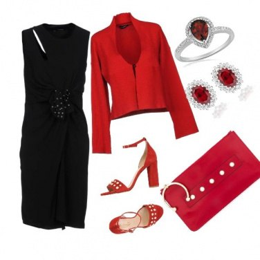 Outfit Rosso e nero chic