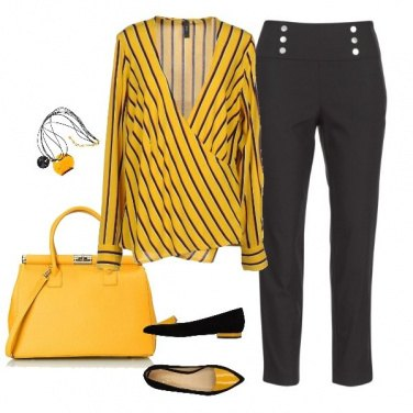 Outfit Yellow casual friday