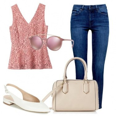 Outfit Jeans and romantic