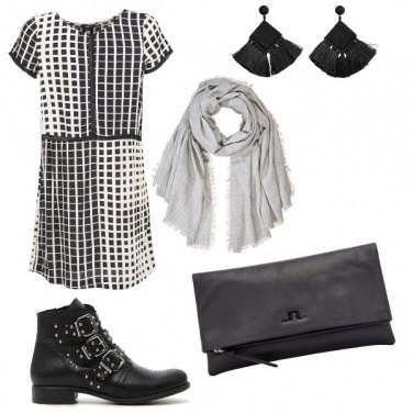 Outfit Rock monocromatico