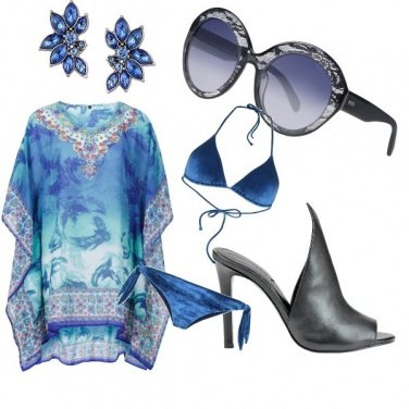 Outfit Blu marine glasses