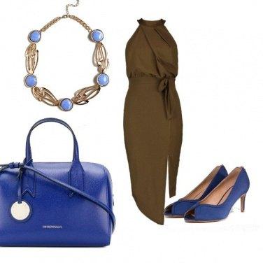 Outfit Ufficio.in blu