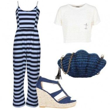 Outfit Una conchiglia di paglia