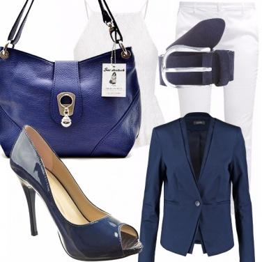 Outfit Elegantemente blu