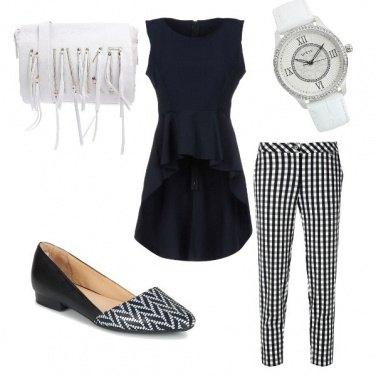 Outfit Bianco e nero! Un classico!