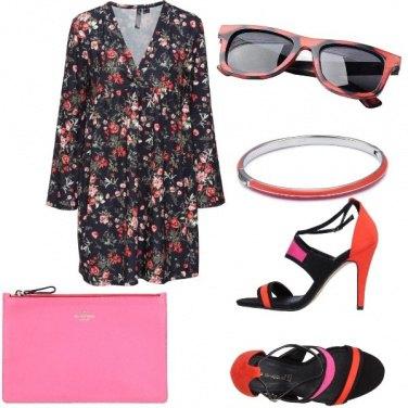 Outfit Rosa e arancione