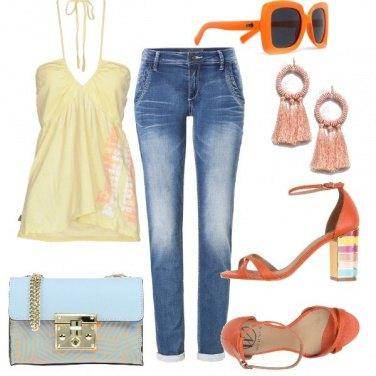 Outfit Denim e colori