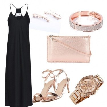 Outfit Serata Black and rose