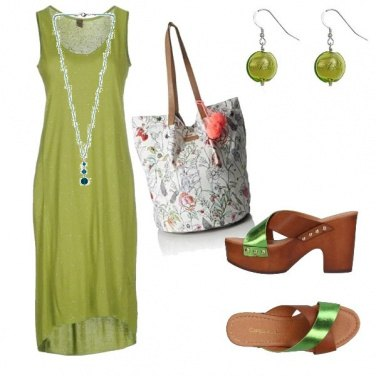 Outfit Verde in vacanza