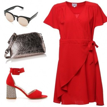 Outfit Aperitivo in rosso