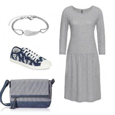 Outfit Abito grigio!