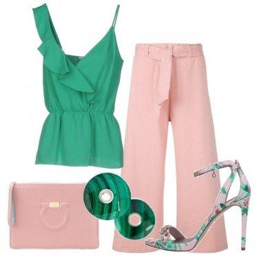 Outfit Rosa e verde