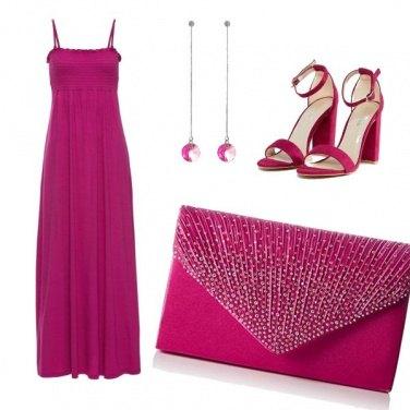 Outfit Cerimonia in fucsia