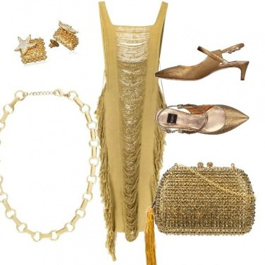 Outfit Gold lady