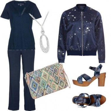 Outfit Blu notte stellata
